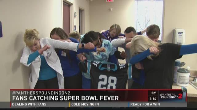 Fans Catching Superbowl Fever