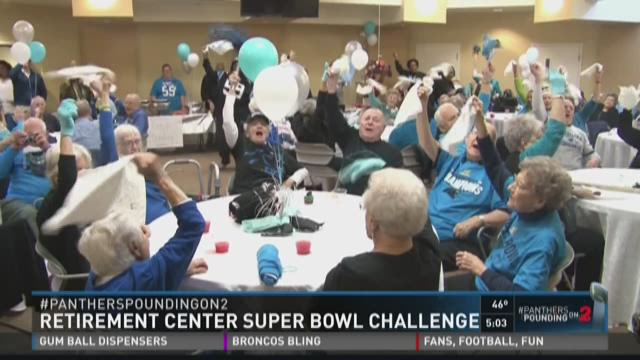 """On Friday, the Piedmont Crossing Retirement Center challenged a retirement center in Denver to a """"cheer-off"""" ahead of Super Bowl 50."""
