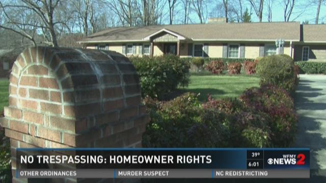 No Trespassing: Homeowner Rights