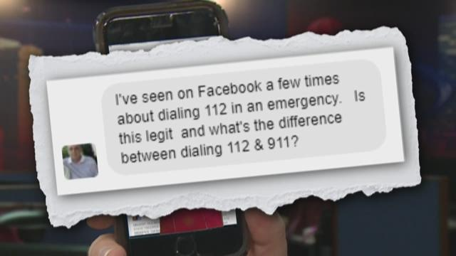 Dialing 112 instead of 911?