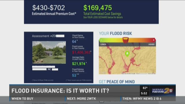 flood insurance mock up