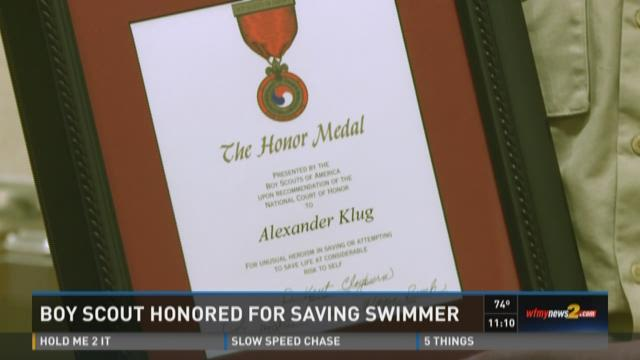 Boy Scout Earns Top Honor for Ocean Rescue