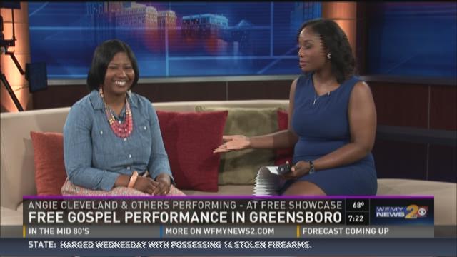 Gospel singer Angie Cleveland