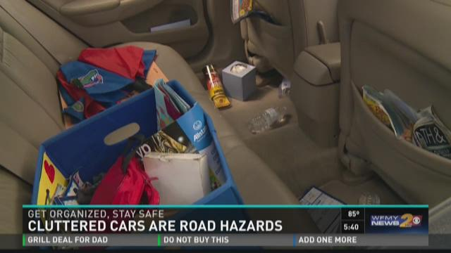 Cluttered Cars Are Road Hazards, Get Organized Stay Safe
