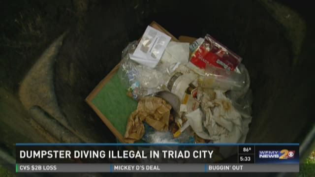 It's actually illegal to rummage through trash cans
