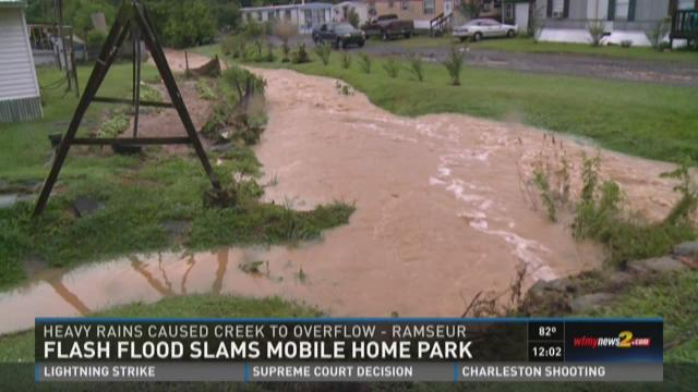 Heavy Rain Causes Flooding At Randolph Co Mobile Home Park