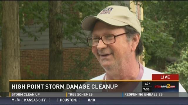 Triad Neighborhood Dealing with Mass Storm Debris