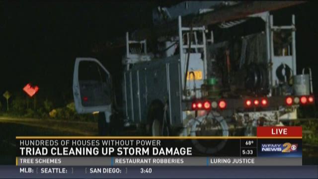 Linemen Restoring Power in High Point, Debris Remains
