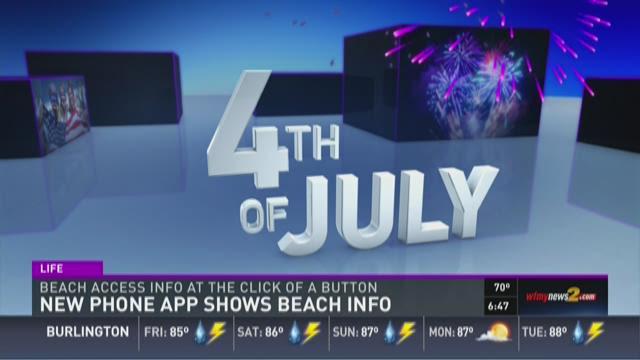 New Phone App Shows Beach Info