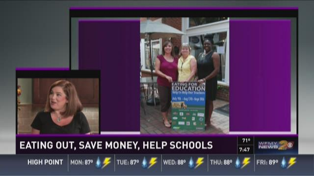 Eat Out, Save Money, and Help Triad Schools