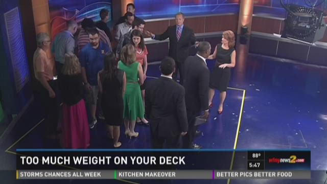 How Much Is Too Much Weight On Your Deck