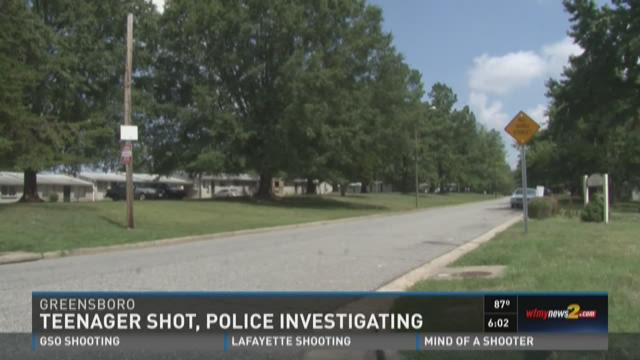 TEENAGER SHOT, HOSPITALIZED AFTER SHOOTING