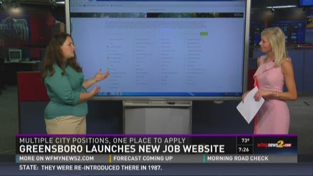 City of Greensboro's new job application website --