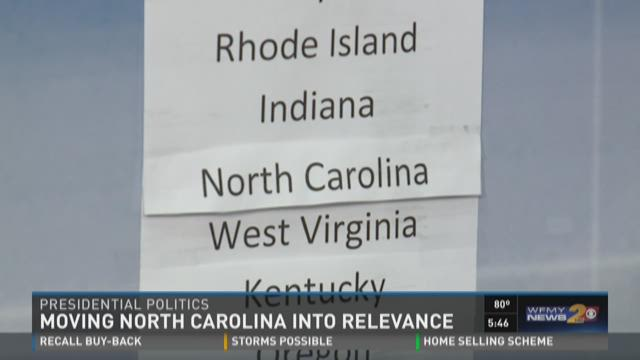 North Carolina Increasing Relevance in Presidential Race