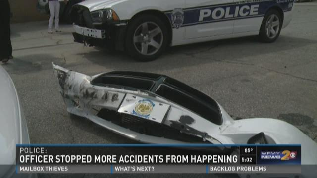 Police: Officer Stopped More Crashed From Happening