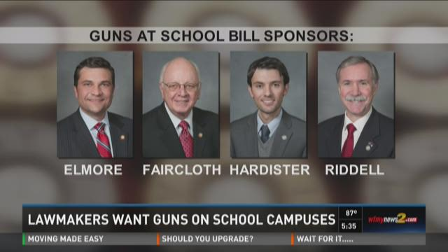 NC Lawmakers Want Guns On School Campuses