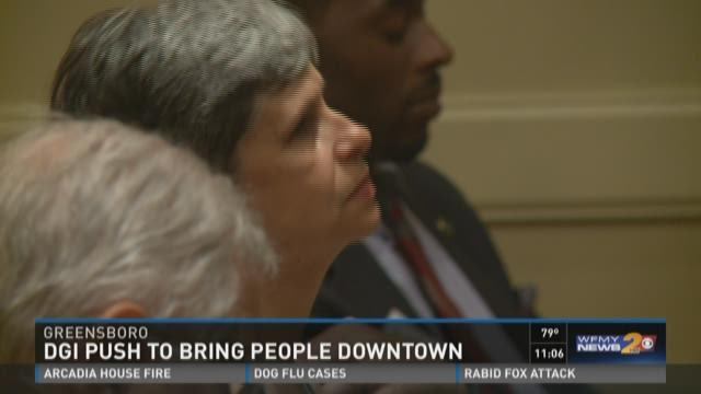 Matheny speaking at the town hall meeting Wednesday
