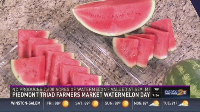 Watermelon Day At the Piedmont Triad Farmers Market
