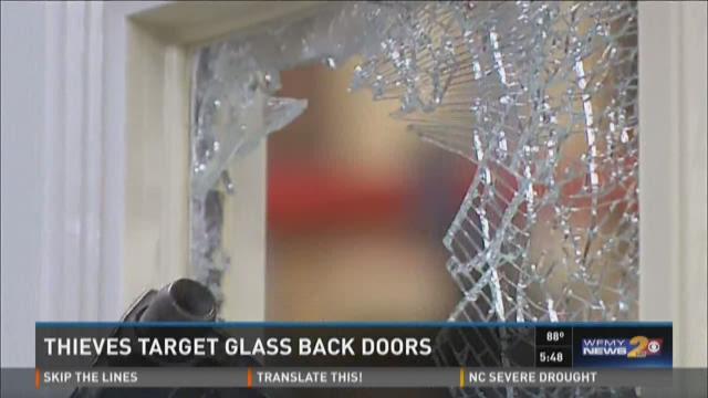 Burglars Target Glass Back Doors