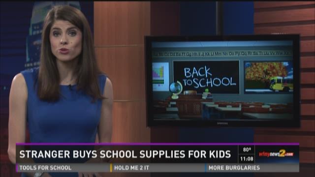 Man Buys School Supplies for Stranger