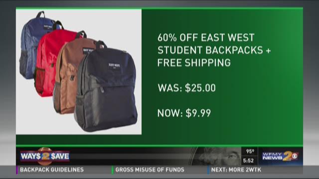 $10 Backpack Steals, Jansport And High Sierra