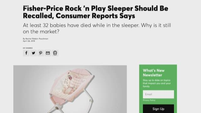 Parents Beware! Consumer Groups Say This Sleeper Can Be Deadly Depending On  Your Child's Age