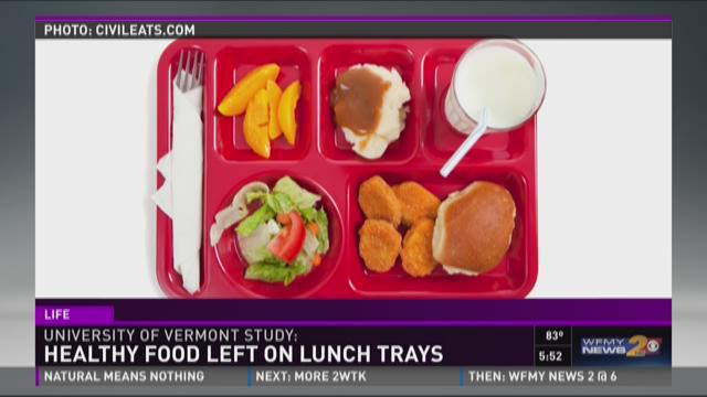 Study Finds Kids Trash Healthy Lunch Food