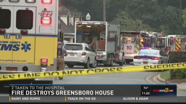 Fire Destroys Home, Sends 2 To Hospital