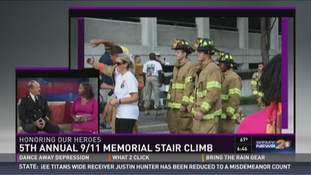 9/11 Stair Climb in downtown Greensboro