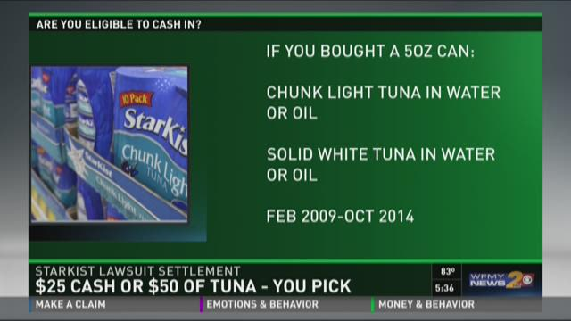 Settlement Gets You $25 Cash Or $50 Tuna