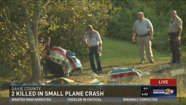 Small Plane Crash In Davie County Kills 2 People