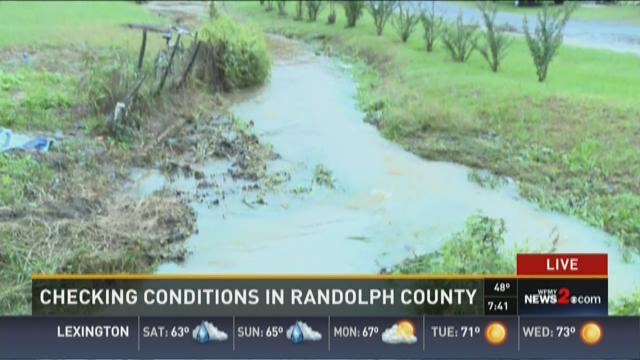 Randolph Co Power Outages, Flood Watch 4