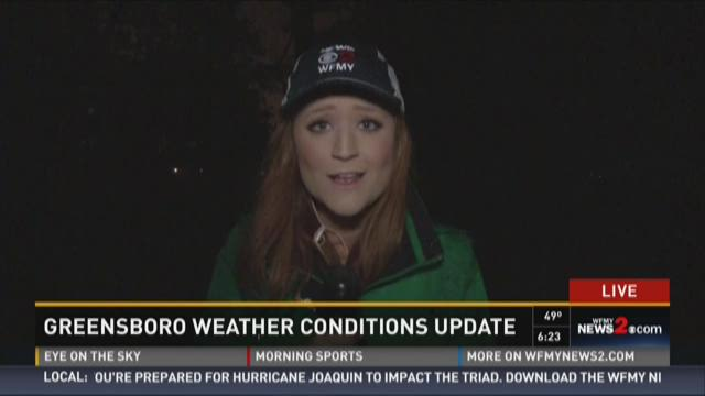 Greensboro Weather Conditions Update 1