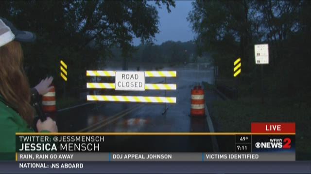 Water Floods Roads In Reidsville 1