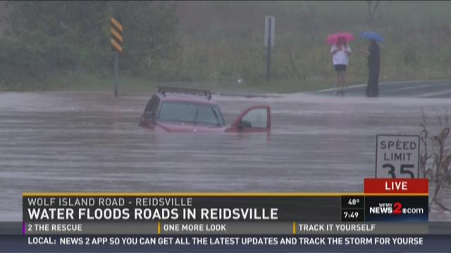 Water Floods Roads In Reidsville 2