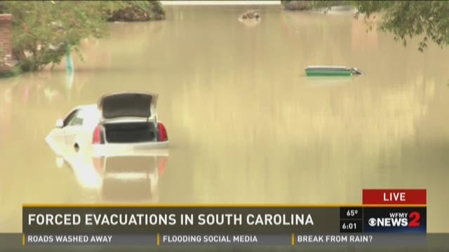 Flash flood caution sign on interstate in SC