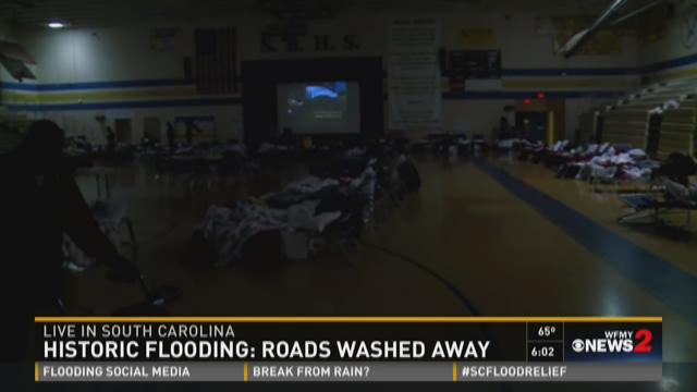 Hundreds Try To Find Shelter In NC
