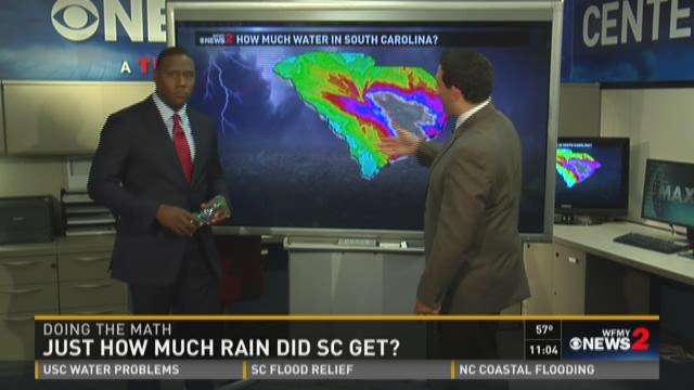 Perspective on how much rain fell in South Carolina.