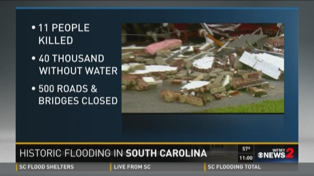 Rivers take over roads in SC