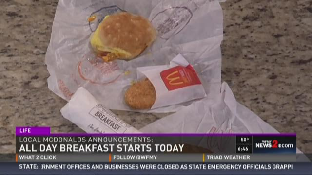 McDonalds Starting All Day Breakfast %26 Working To Help Local Schools