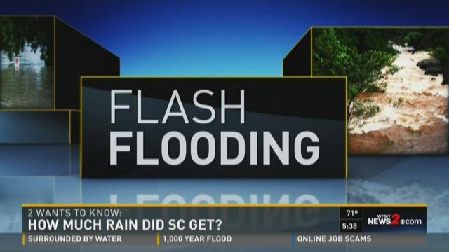 20 Trillion Water Bottles? How Much Rain Fell in SC