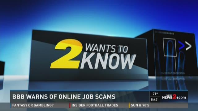 BBB Warns Of Online Job Scams