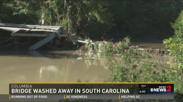 Bridge Washed Away From Flooding