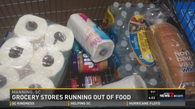 SC Stores Are Running Out Of Food