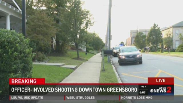 Officer-Involved Shooting In Downtown Greensboro