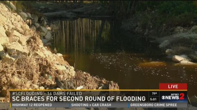 Dam Fails And Washes Road Away In South Carolina