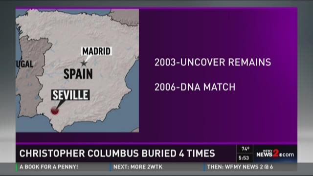 Burial spots of Christopher Columbus