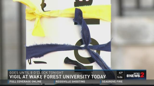 Vigil At Wake Forest University Today