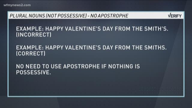 Grammar Verify Let S Get The Apostrophe S Rule Straightened Out Wfmynews2 Com